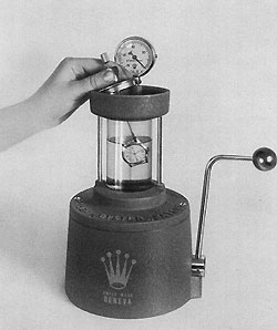 The patented Rolex vacuum device.