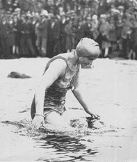 Miss Mercedes Gleitze - the first woman to swim the English Channel.